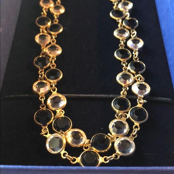 Swarovski Jewelry - Authentic Swarovski Black&Clear Necklace